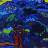 진양욱|붉은나무가 있는 풍경|1983|