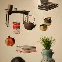 황정후.Mixed Souvenir 004.2018.pigment printm,collage on Canvas.130.3x97cm
